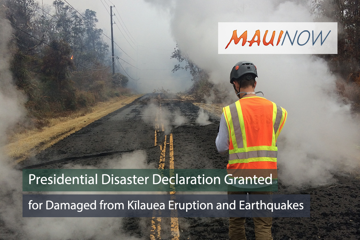 Presidential Disaster Declaration Granted for Hawai'i