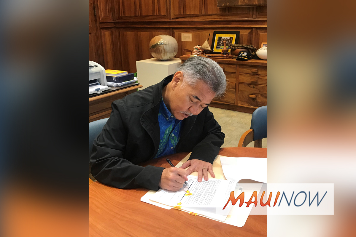 Ige Signs Request for Presidential Disaster Declaration