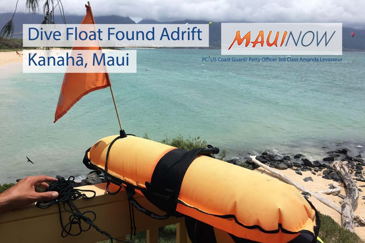 Dive Float Found Adrift Near Kanahā, Maui