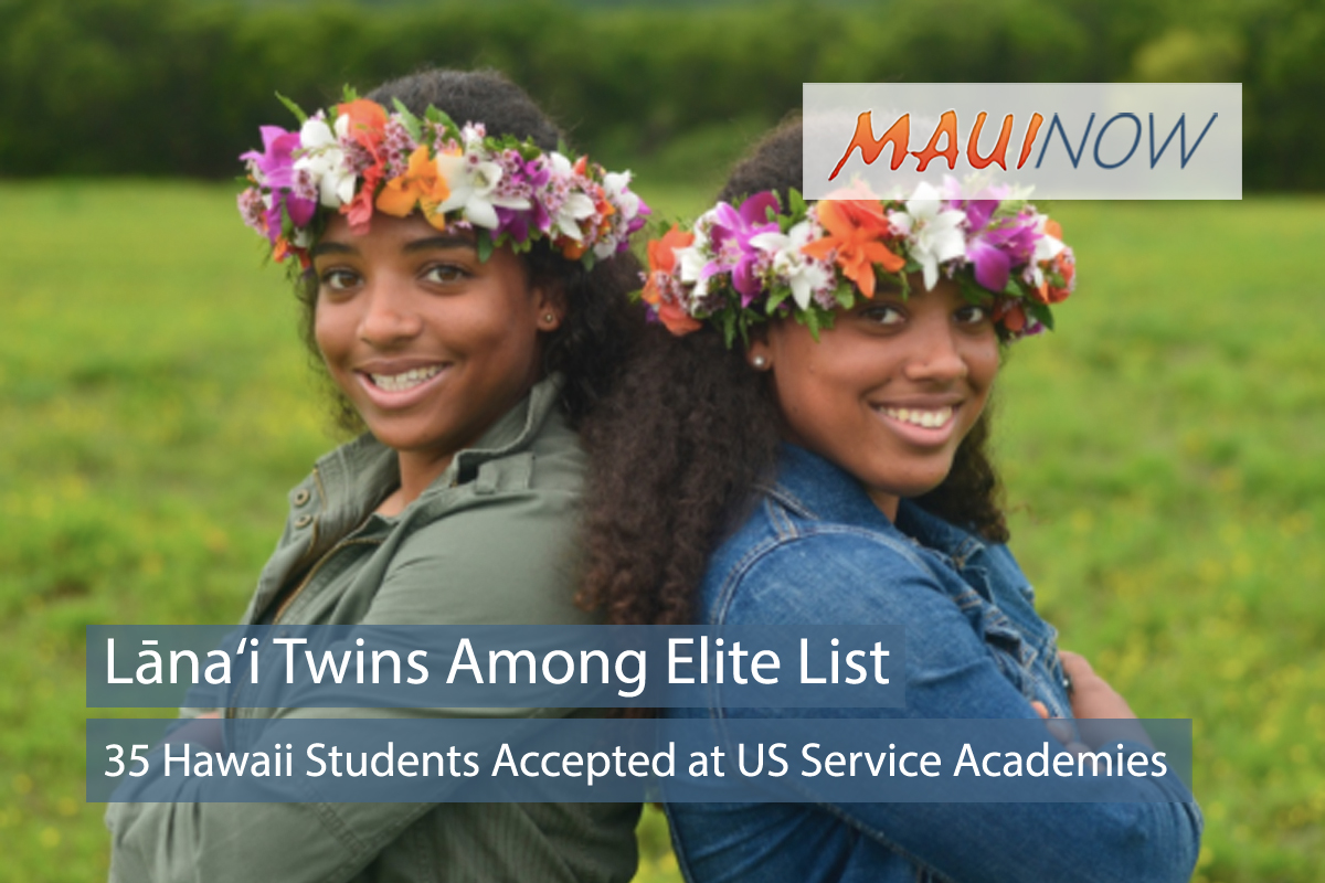 Lāna'i Twins Among 35 Accepted into US Service Academies