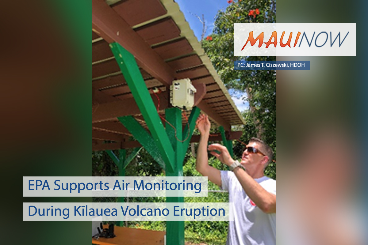 EPA Supports Air Monitoring During Kīlauea Volcano Eruption