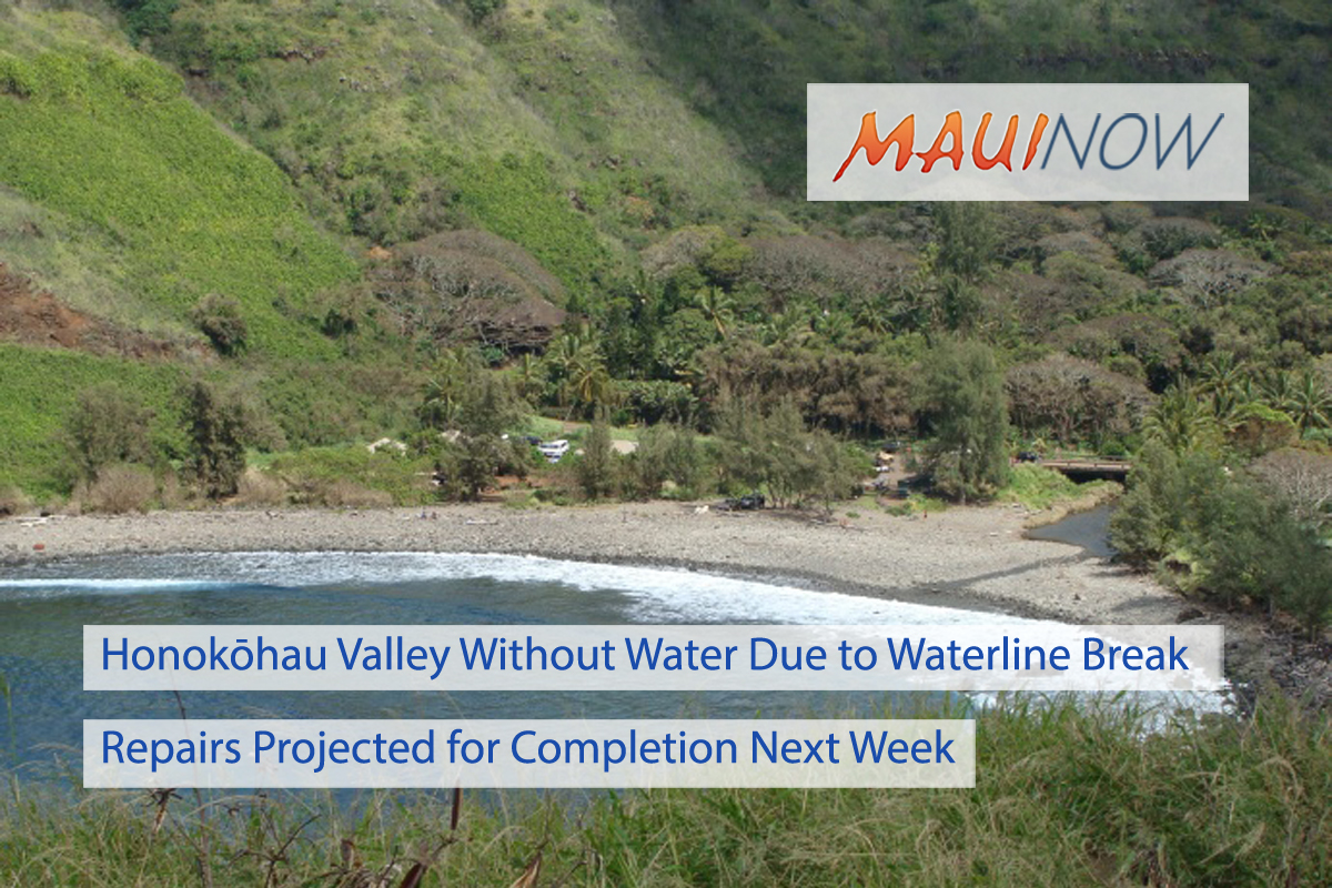 Honokōhau Valley Without Water Due to Waterline Break