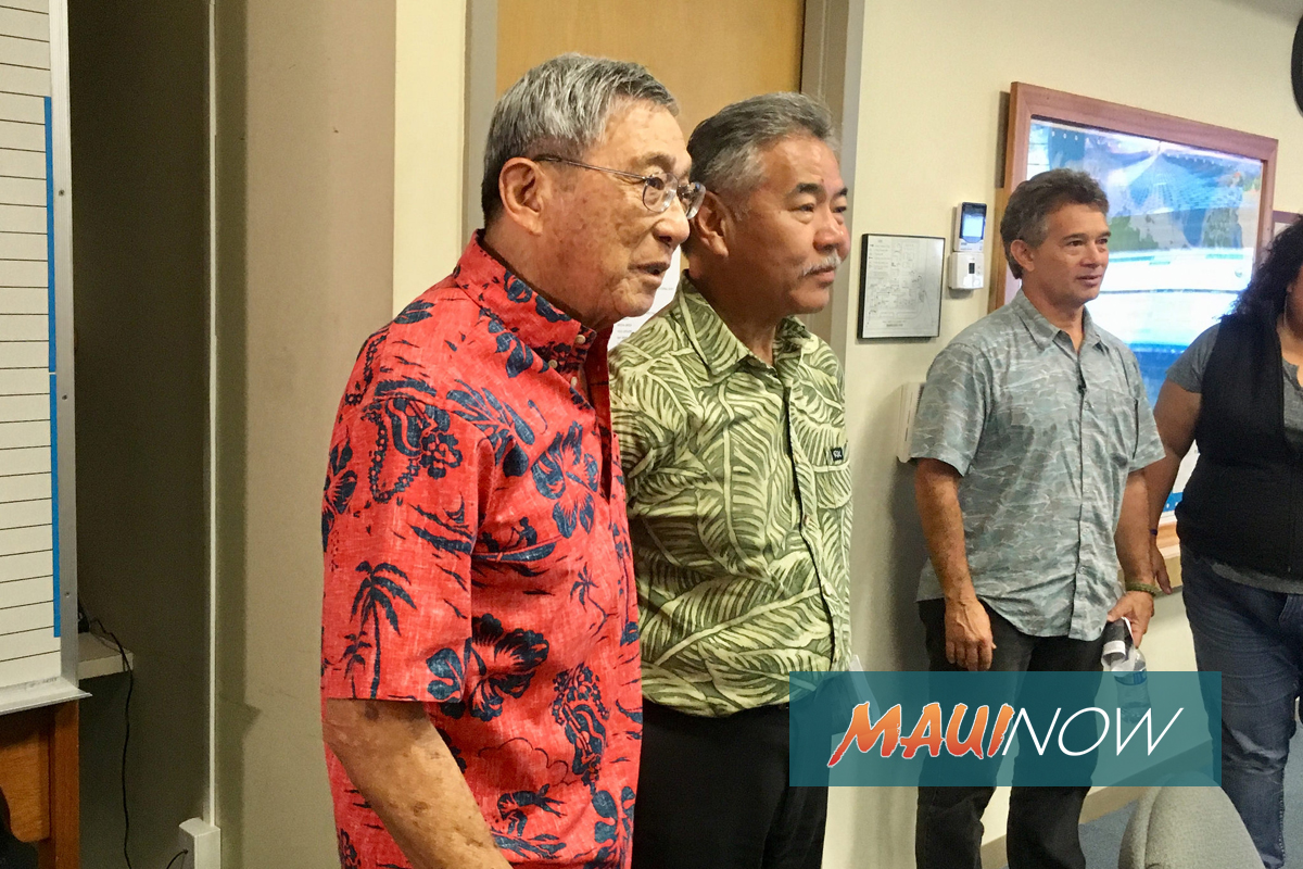 Governor Ige Asks Mayor Kim to Take Lead at Maunakea