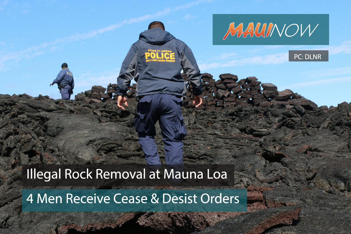 Illegal Rock Removal from Mauna Loa Reserve