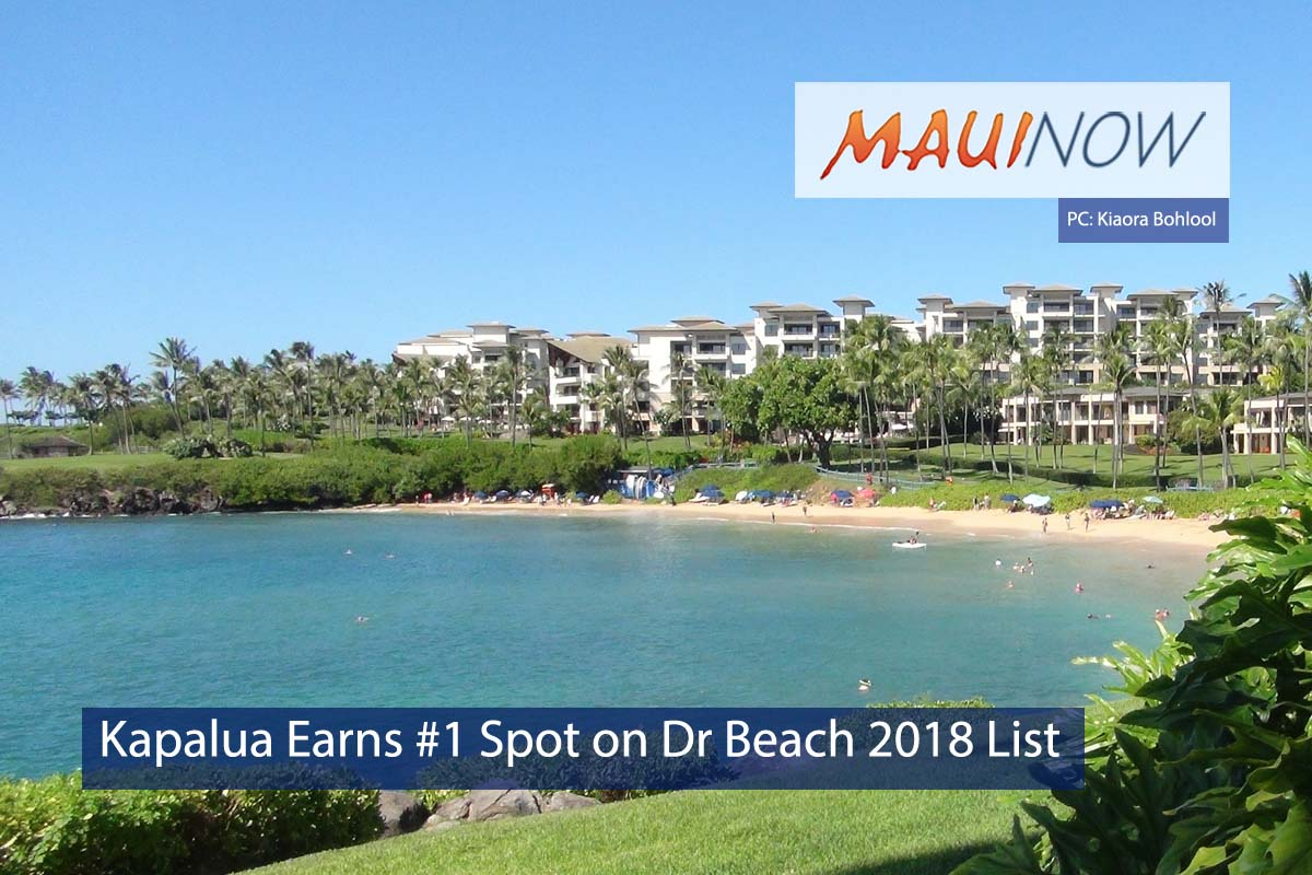 Kapalua Earns Top Spot on Dr Beach 2018 List