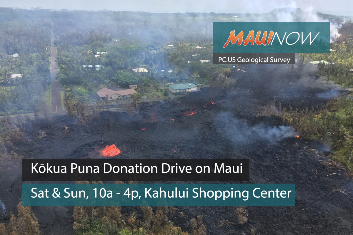 Kōkua Puna Donation Drive on Maui This Weekend
