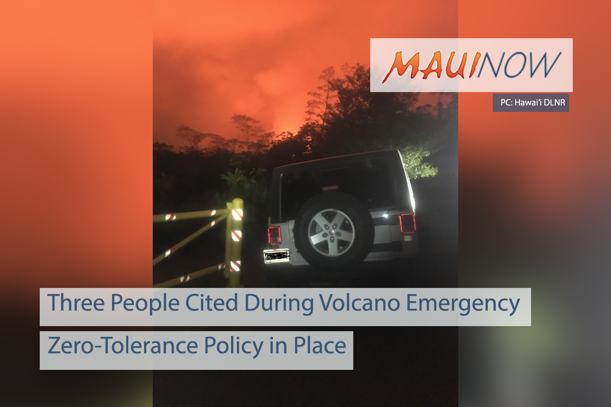 Three People Cited During Volcano Emergency