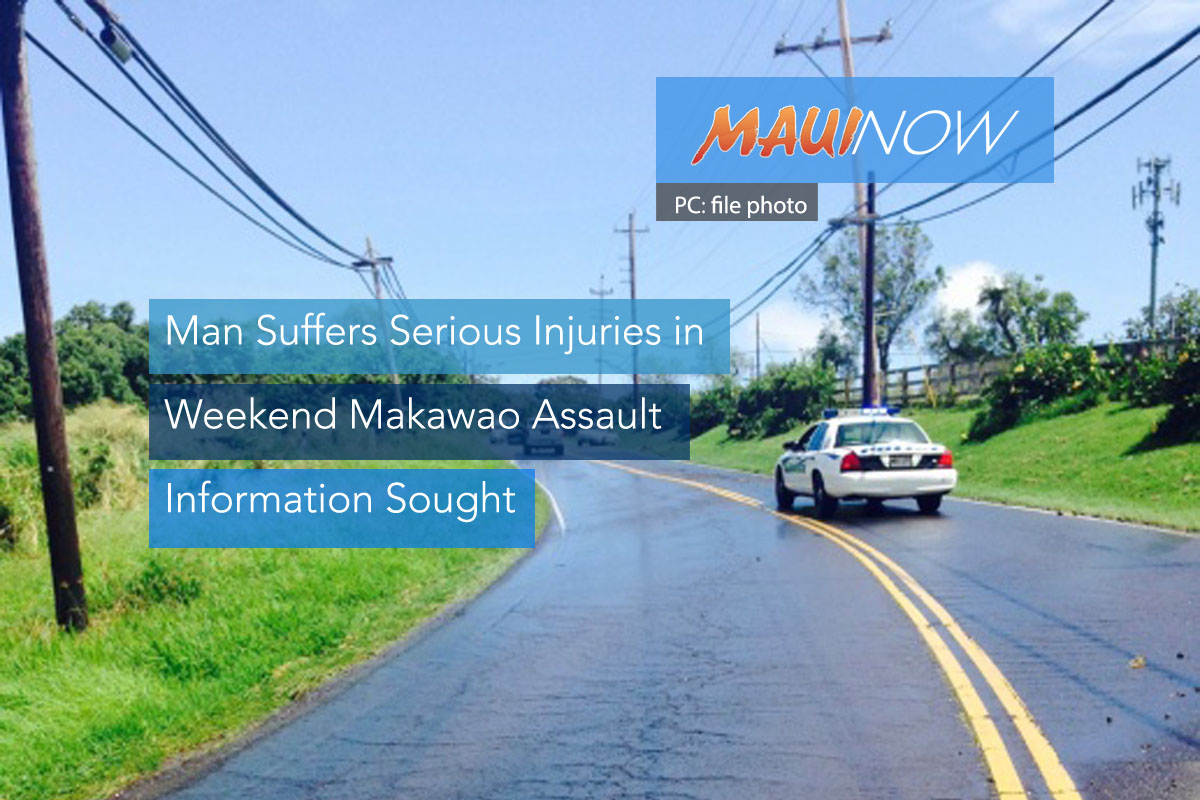 Information Sought in Weekend Makawao Assault