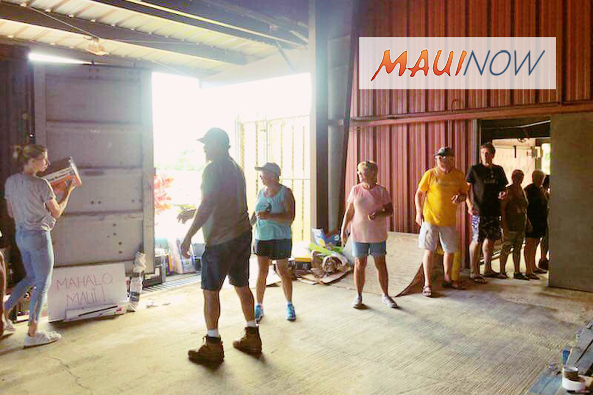 Maui Flood Relief Container Reaches Kaua'i