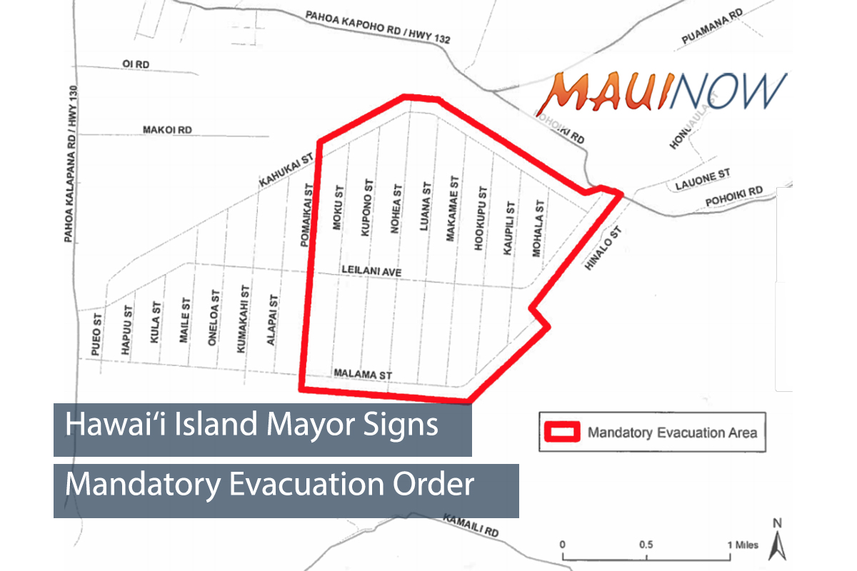 Hawai'i Island Mayor Signs Mandatory Evacuation Order