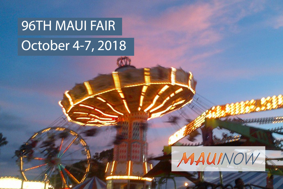 96th Maui Fair, Oct. 4-7, 2018: Celebrating the Good Olʻ Days