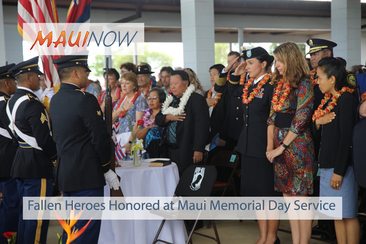 Fallen Heroes Honored at Makawao Veterans Cemetery Memorial Day Service