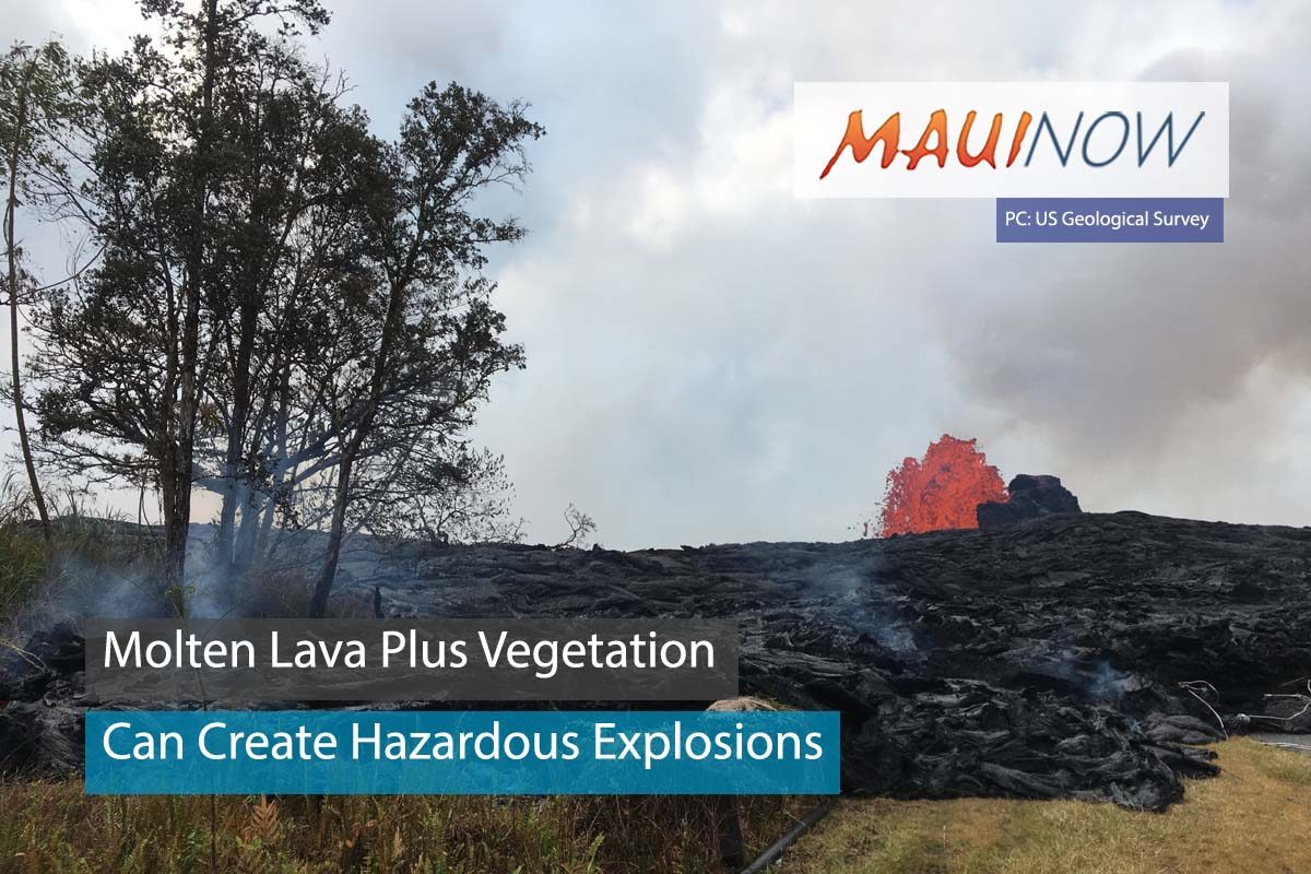"Molten Lava Plus Vegetation Create ""Methane Explosions"""