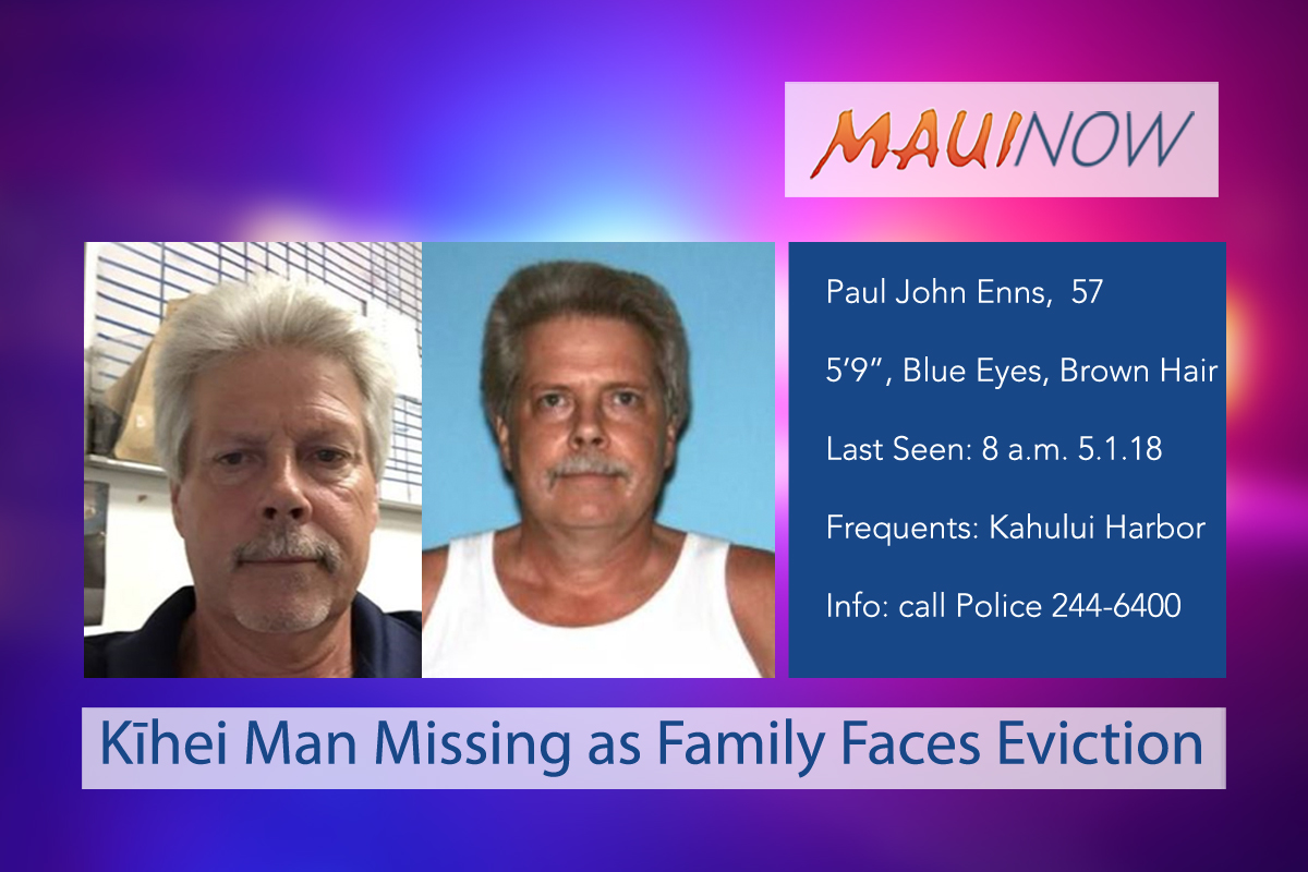 Kīhei Man Missing as Family Faces Eviction