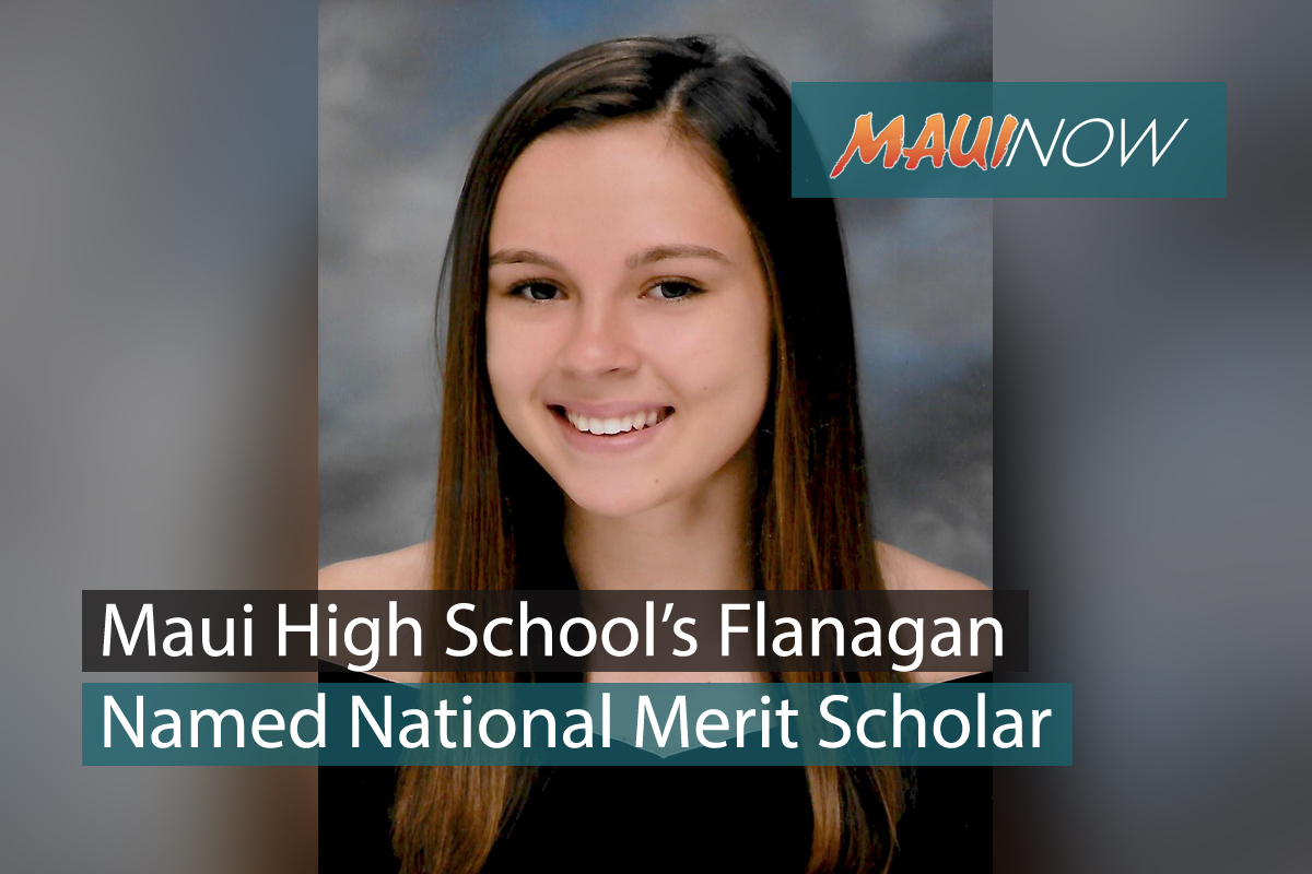 Maui Student Named Merit Scholar