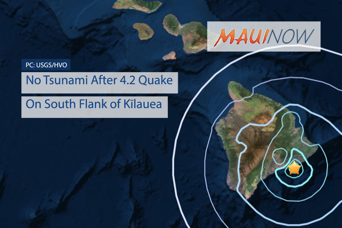 No Tsunami After 4.2 Quake On South Flank of Kīlauea