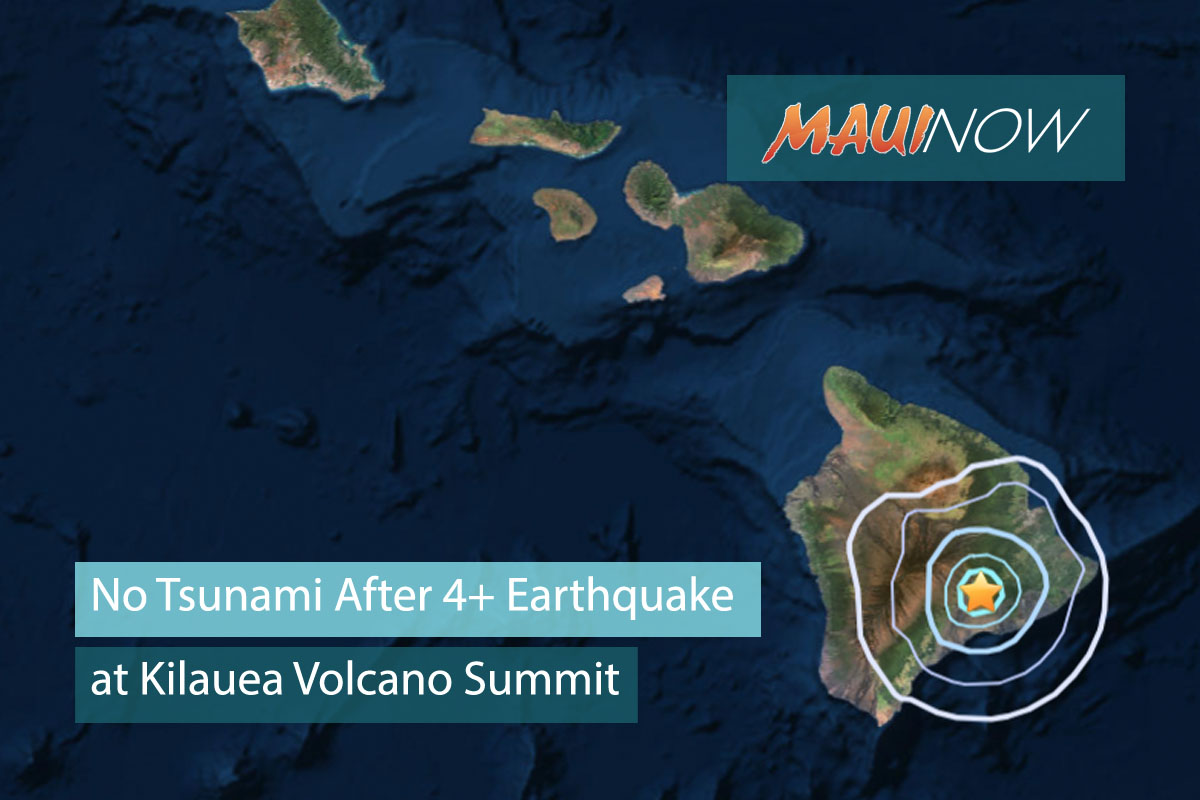 No Tsunami After 4+ Earthquake at Kīlauea Volcano Summit