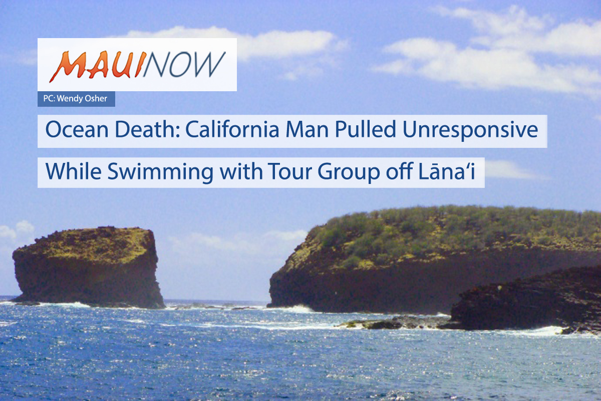 California Man Dies, Found Unresponsive While Swimming off Lāna'i