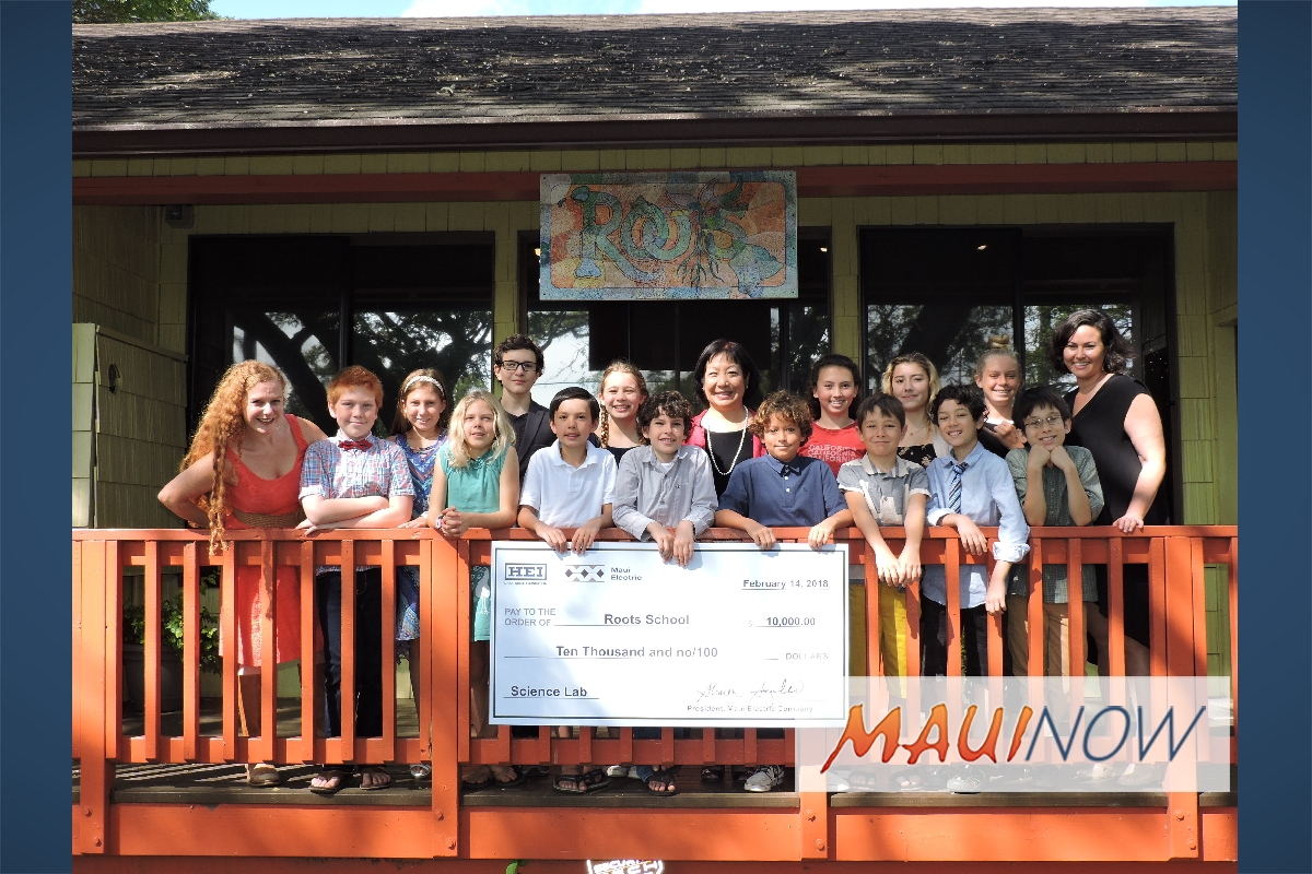 Maui Electric Supports Science Lab Project for Roots School