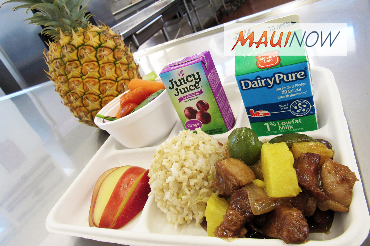 Student Meals to Feature Maui Gold Pineapples