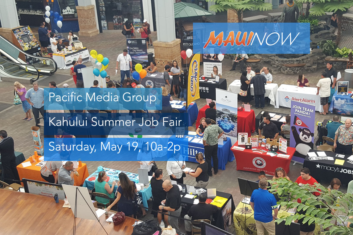 Pacific Media Group Kahului Job Fair, May 19