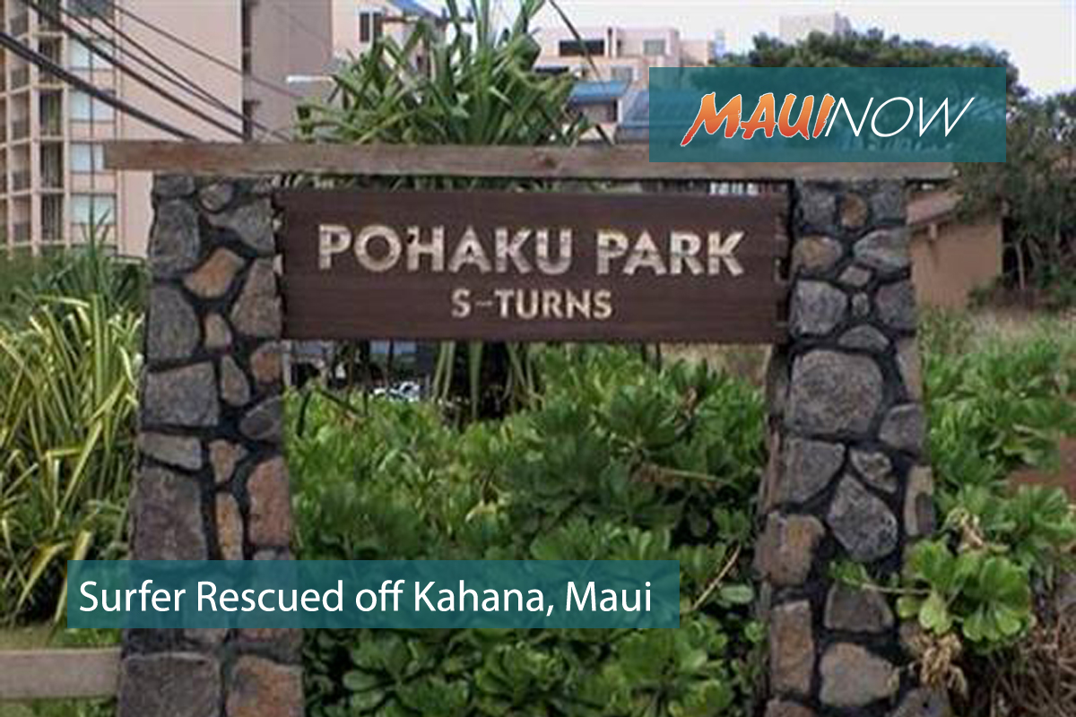 Surfer Rescued off Pōhaku Park, Maui