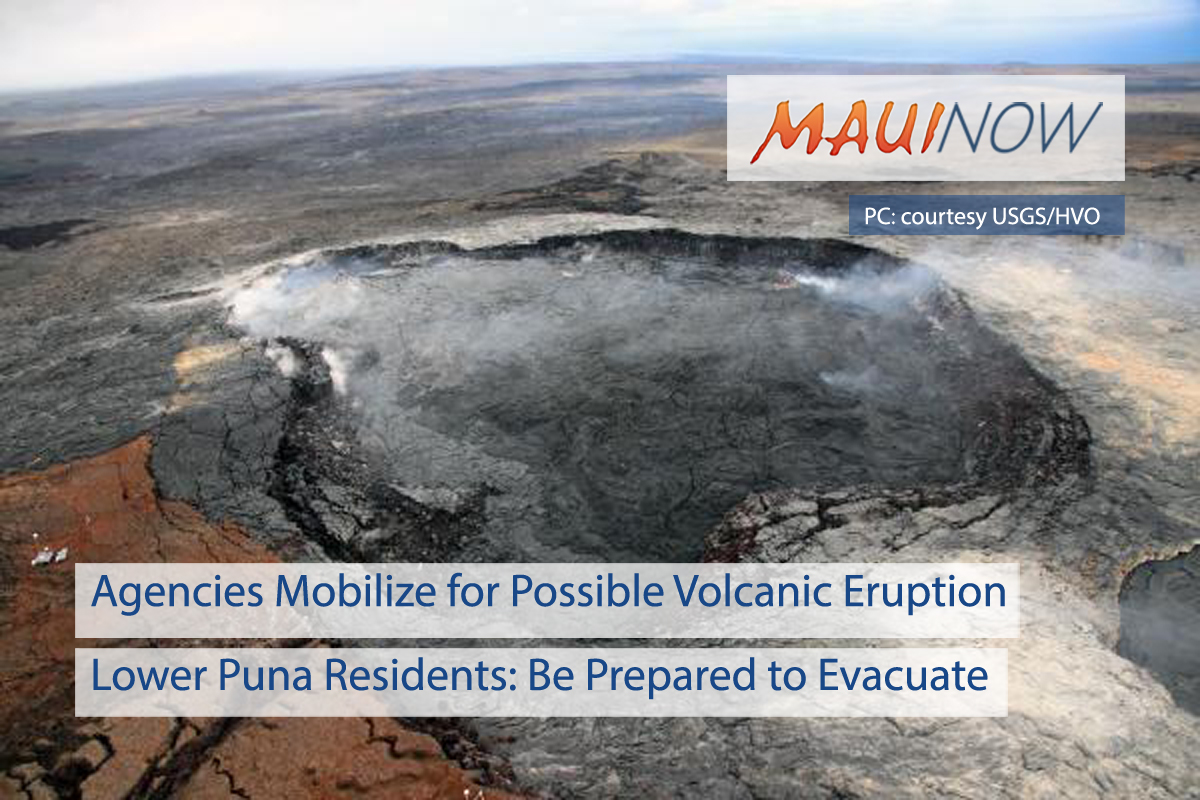 BREAKING: Agencies Mobilize for Possible Volcanic Eruption in Lower Puna