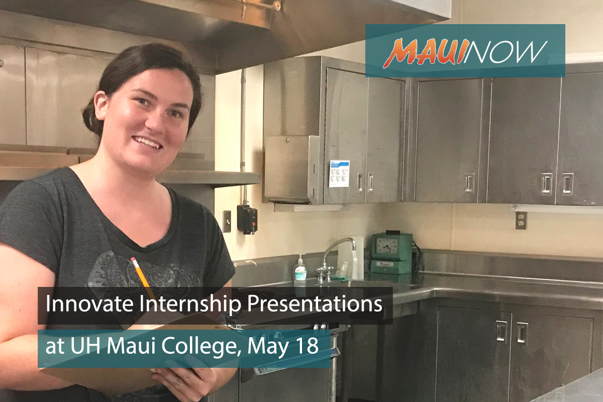 Innovate Internship Presentations at UH Maui College