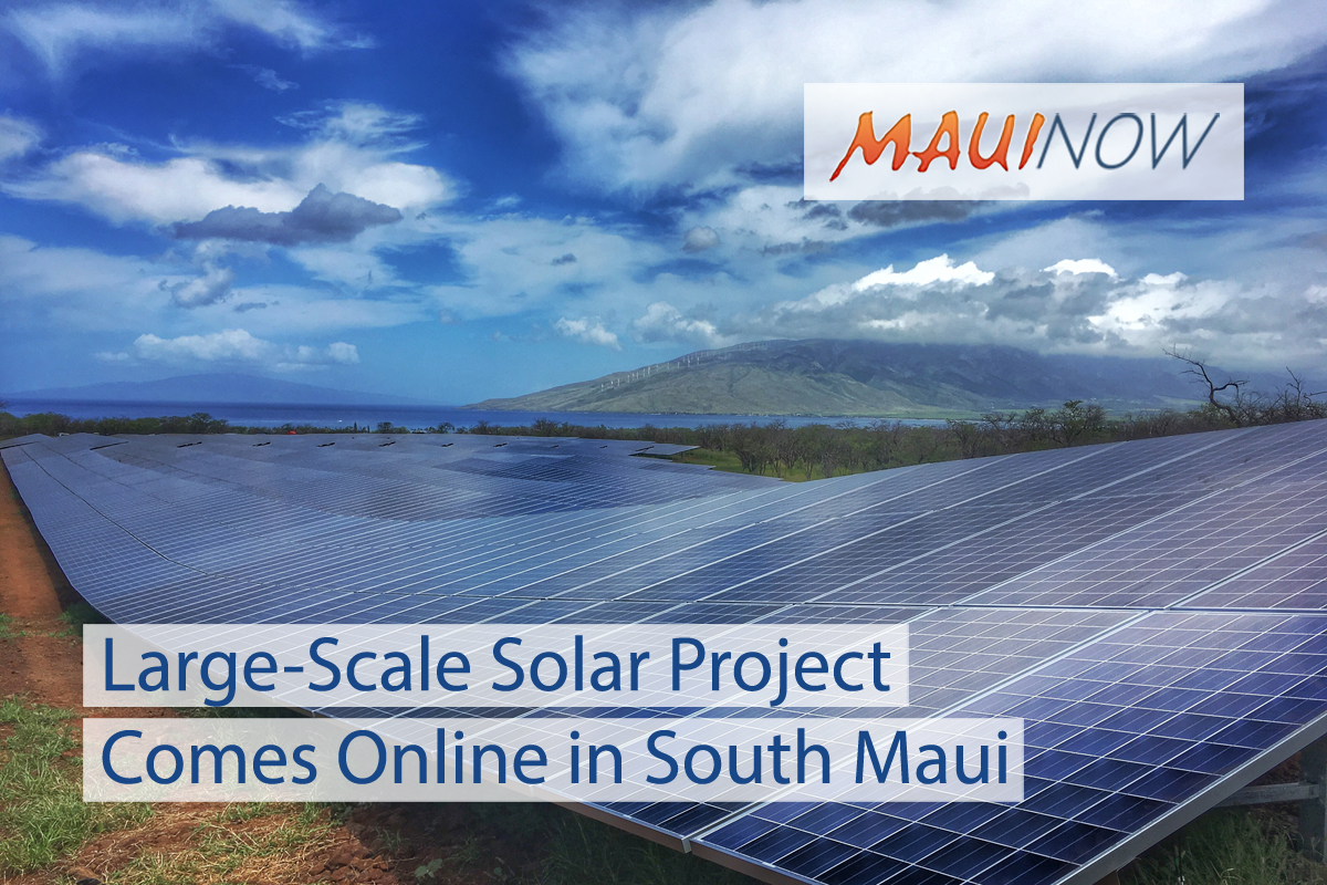 Large-Scale Solar Project on 11 Acres in S Maui