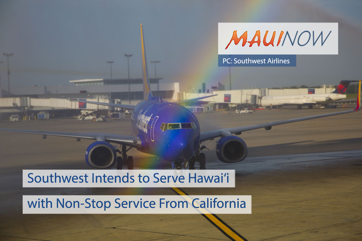 Southwest Plans Hawai'i Non-Stop Service From 4 California Airports