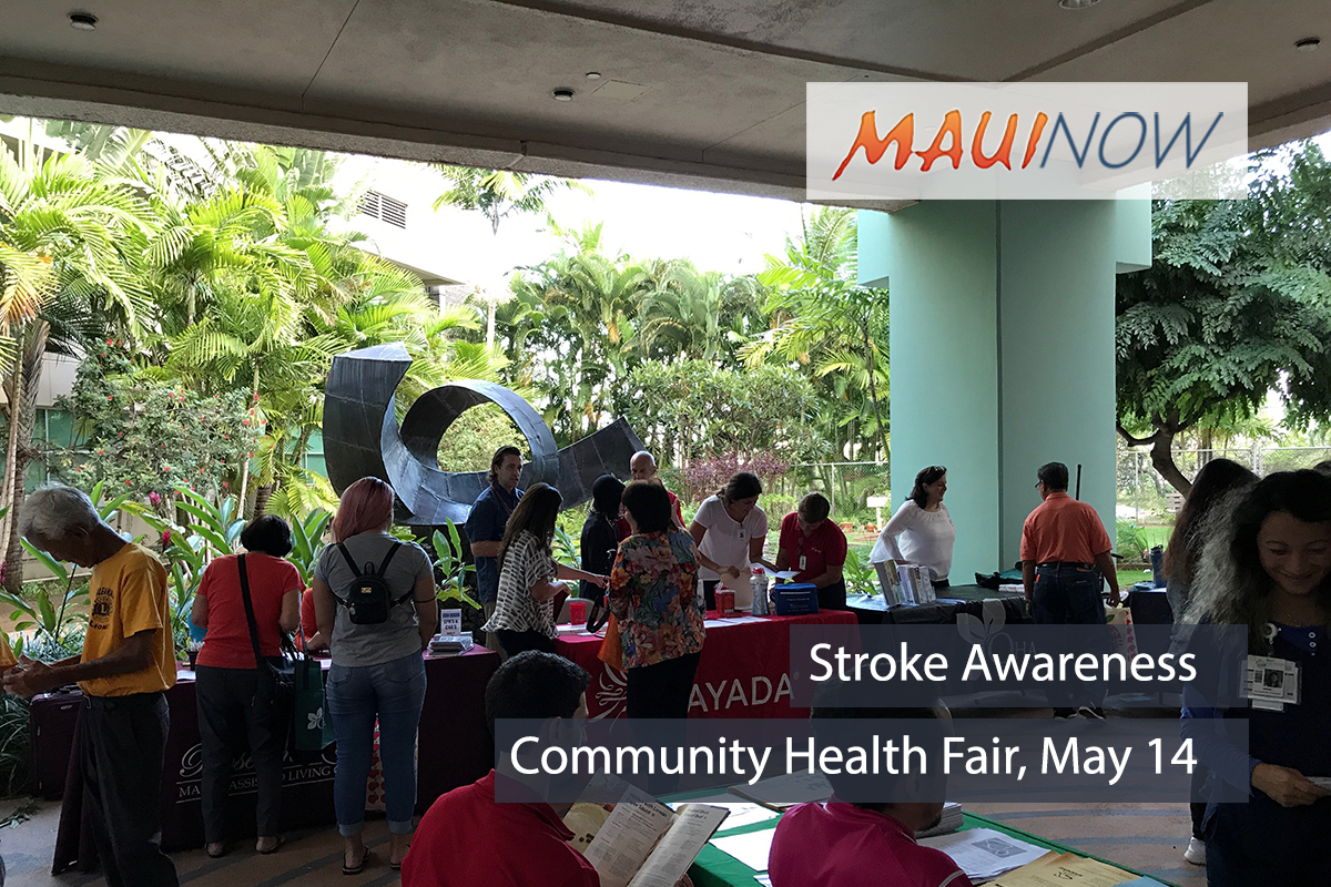 Maui Stroke Awareness Community Health Fair, May 14