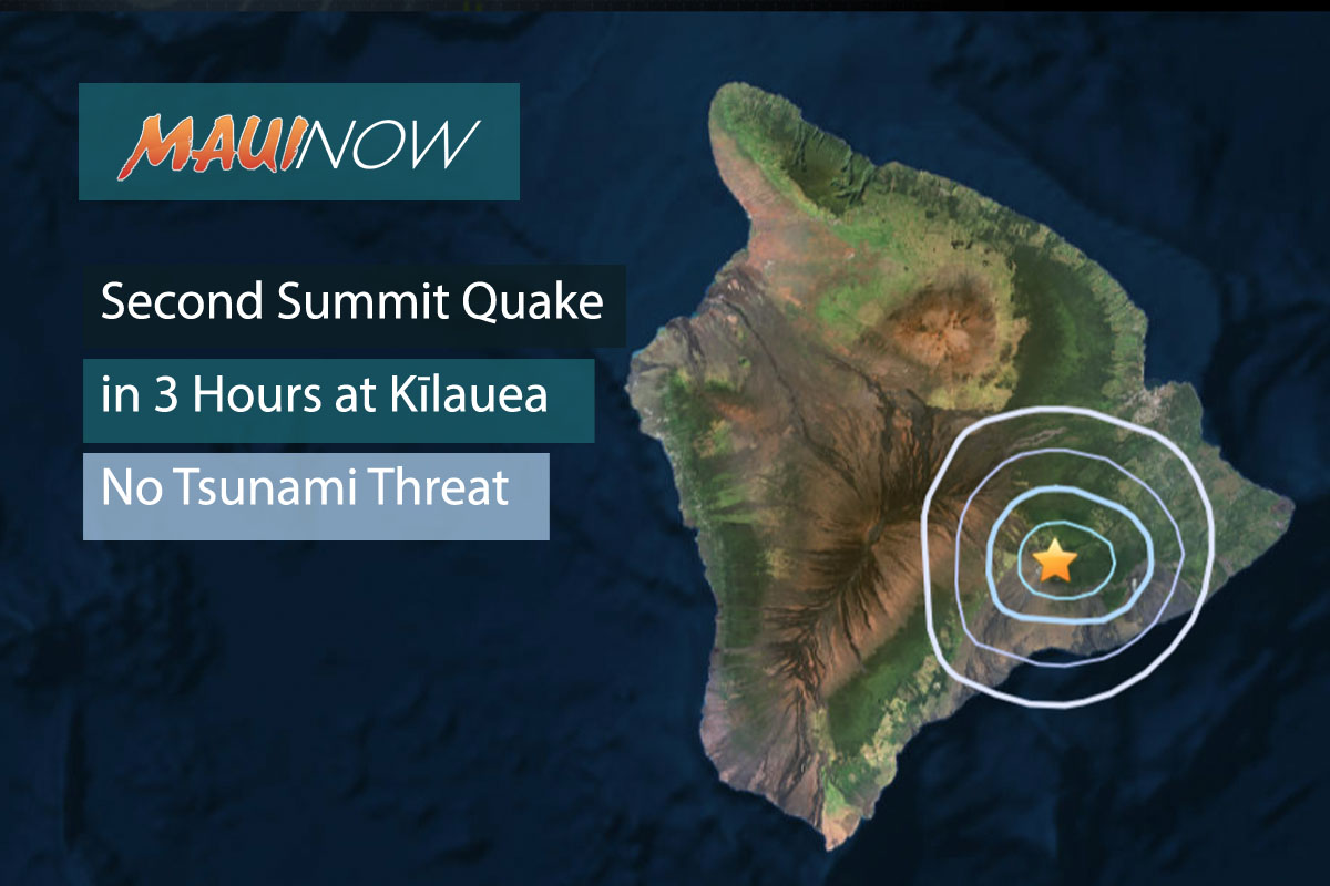 Second Summit Quake in Three Hours, No Tsunami Expected