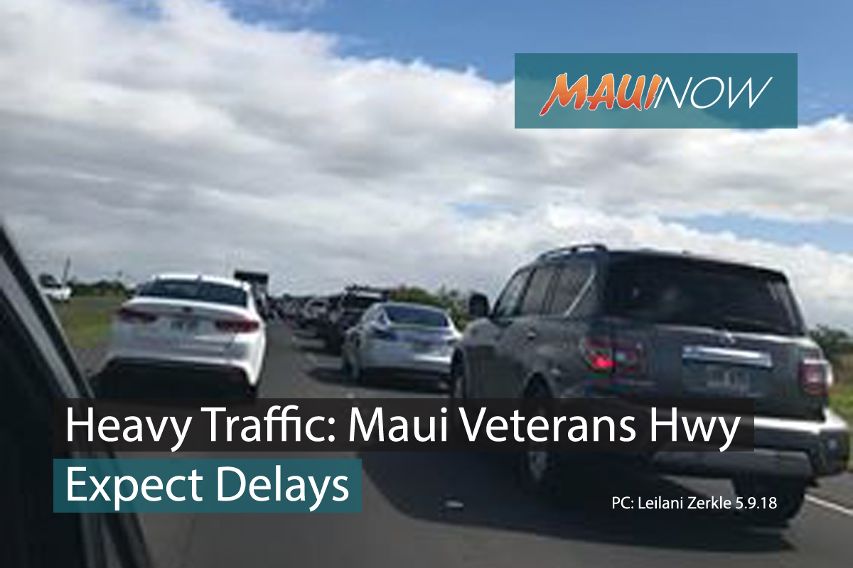 Traffic Advisory: Construction Delays on Maui Veterans Highway