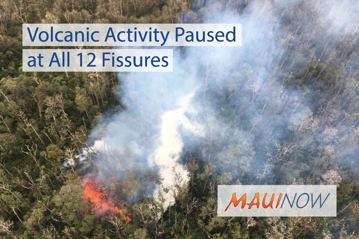 Volcanic Activity Paused at All 12 Fissures