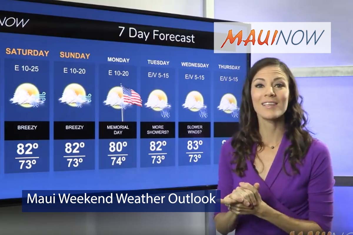 Maui Weekend Weather Outlook, May 25, 2018