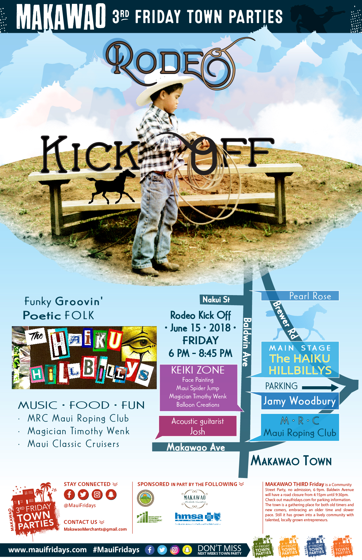 "Makawao Third Friday Town Party Hosts ""Rodeo Kick Off"""