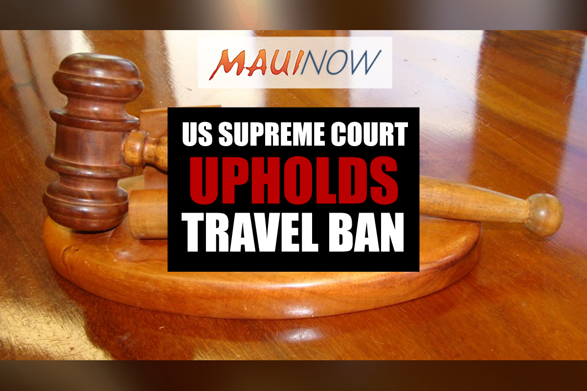Supreme Court Upholds President's Travel Ban