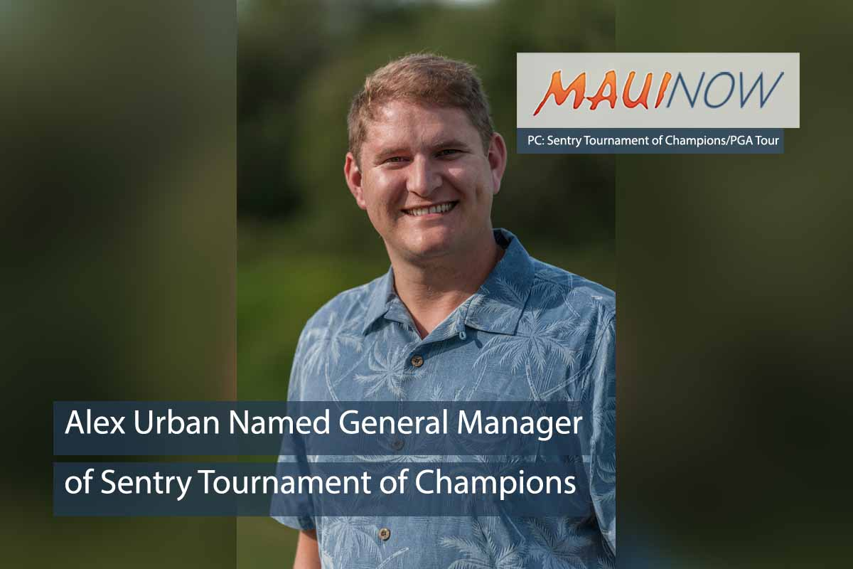 Alex Urban Named GM of Sentry Tournament of Champions