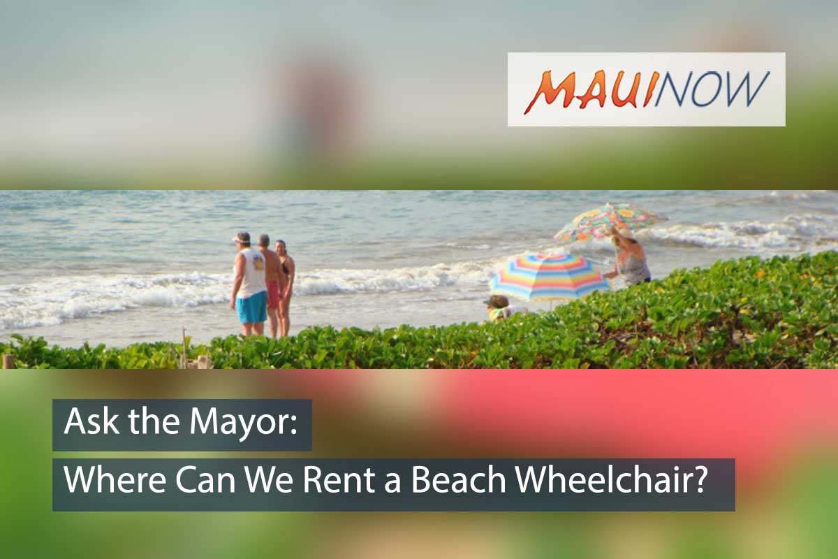Ask the Mayor: Where Can We Rent a Beach Wheelchair?