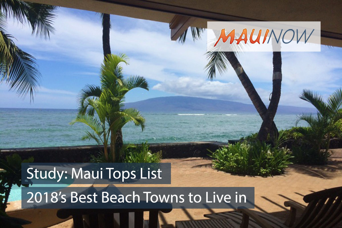 Study: Maui Tops List of 2018's Best Beach Towns to Live in