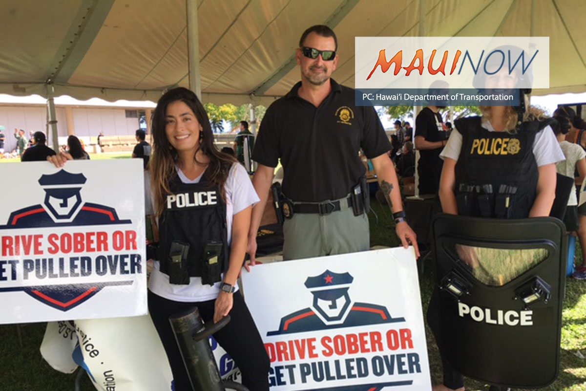 Drive Sober Or Get Pulled Over Campaign Kicks Off with Education at Kīhei Fourth Friday