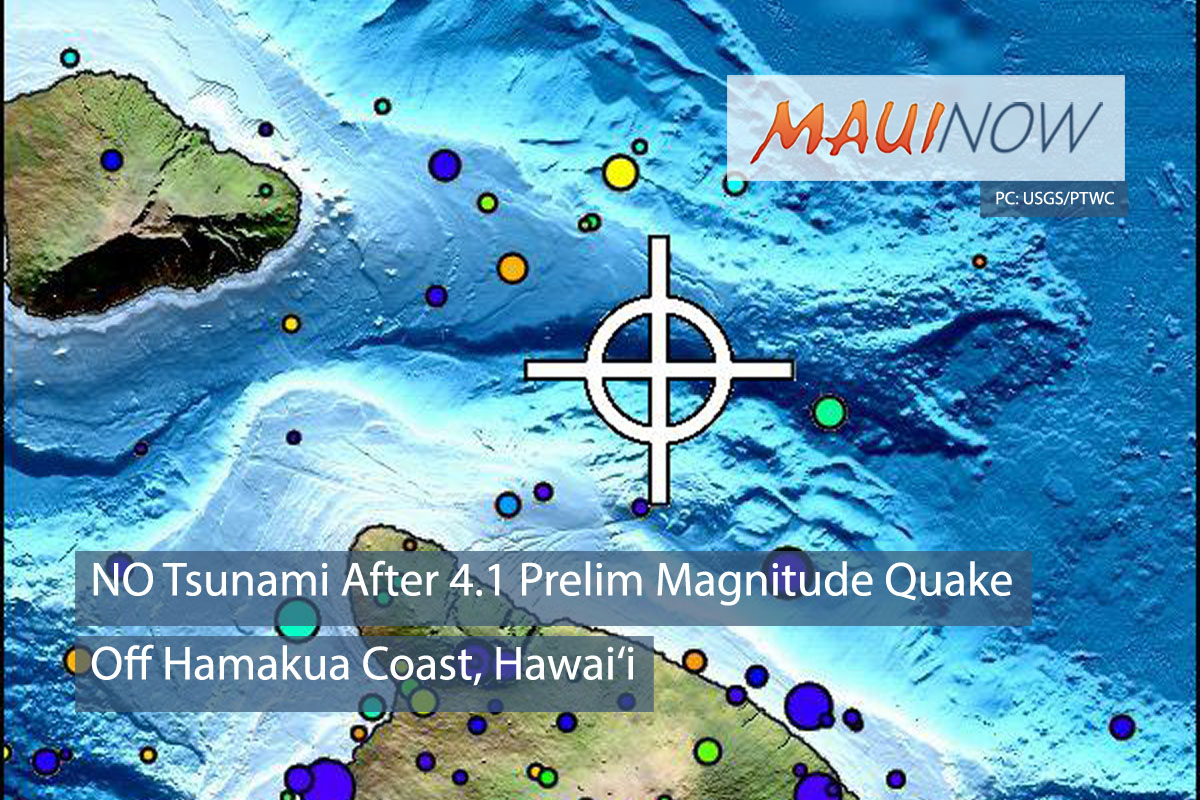 No Tsunami After Series of Small Earthquakes Off Hamakua Coast