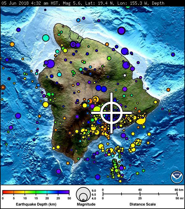 NO Tsunami Threat After 5.5 Quake at Kilauea Summit