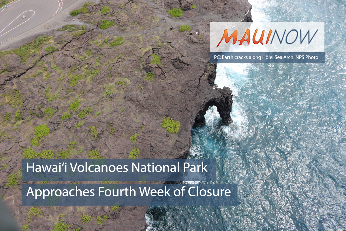 Hawai'i Volcanoes National Park Approaches Fourth Week of Closure
