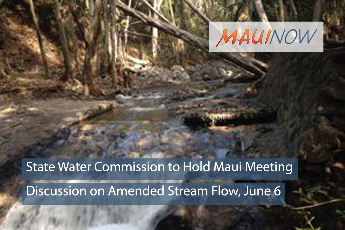 State Water Commission to Hold Maui Meeting on Amended Stream Flow, June 6