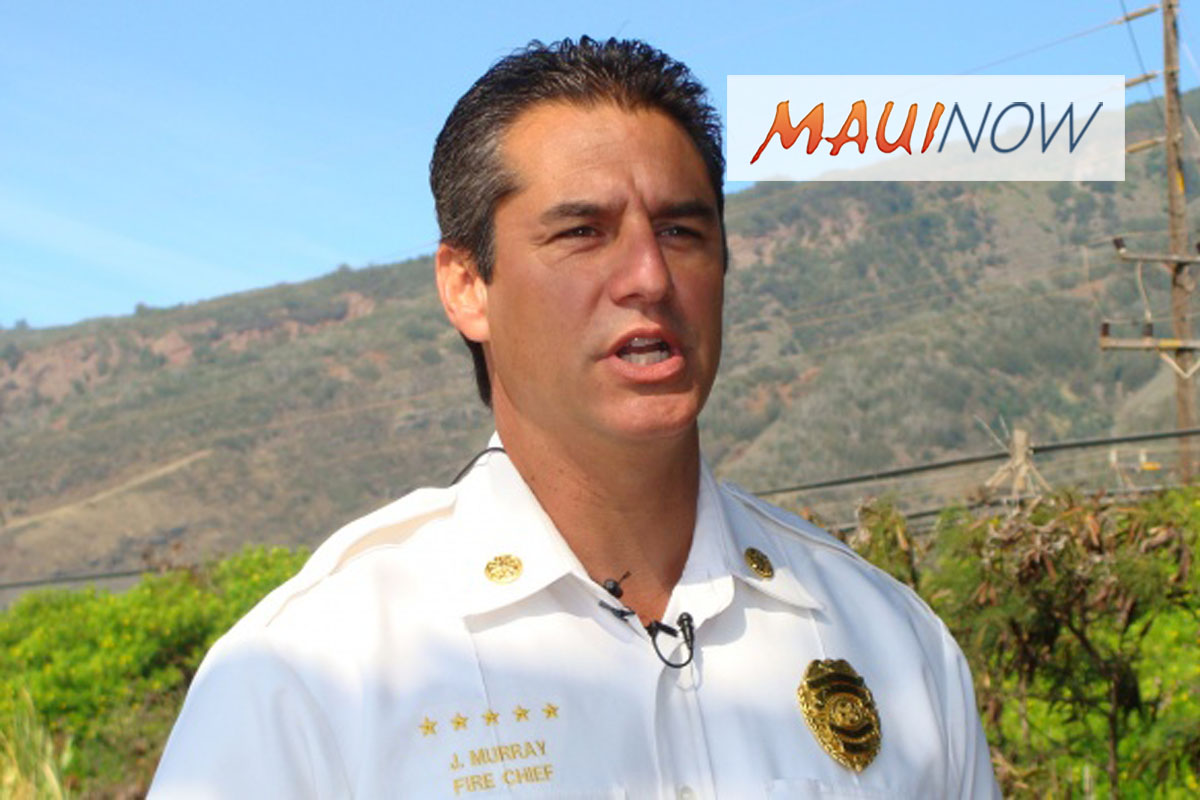 Maui Fire Chief to Retire on June 30, 2018