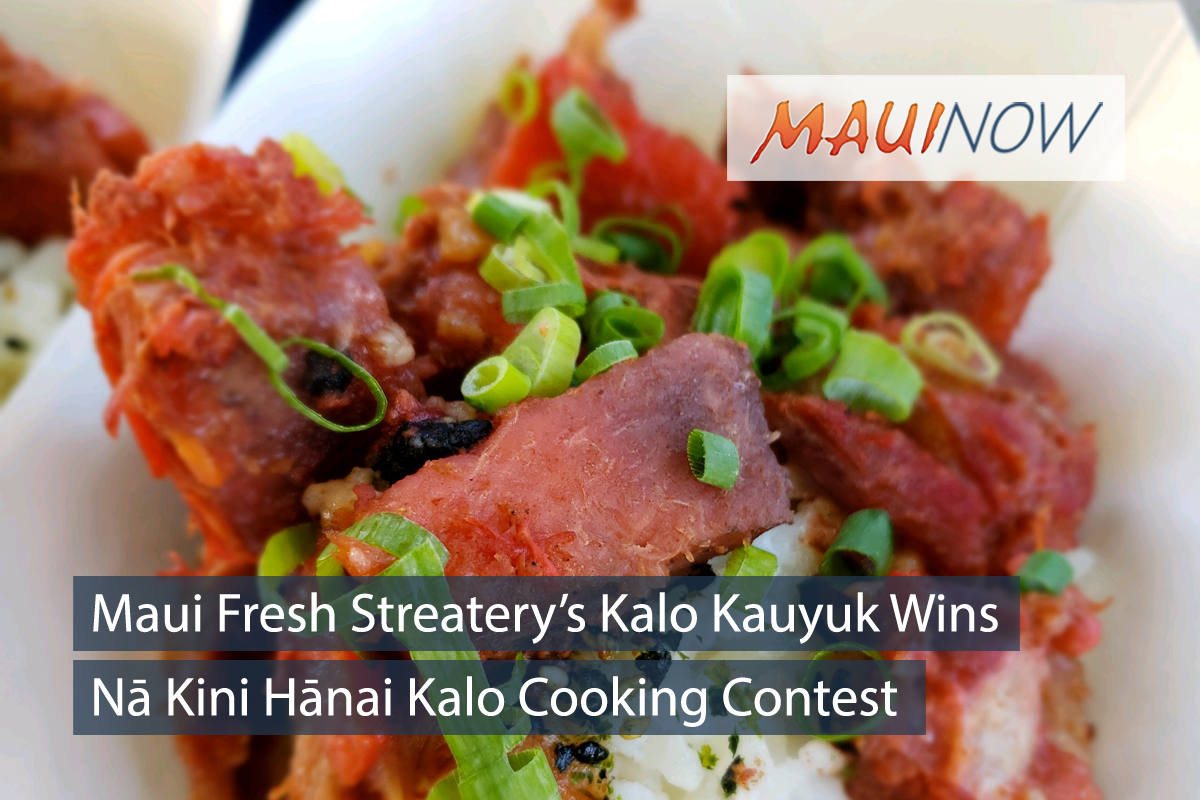 Kalo Kauyuk is Winning Dish at Nā Wai ʻEhā Celebration