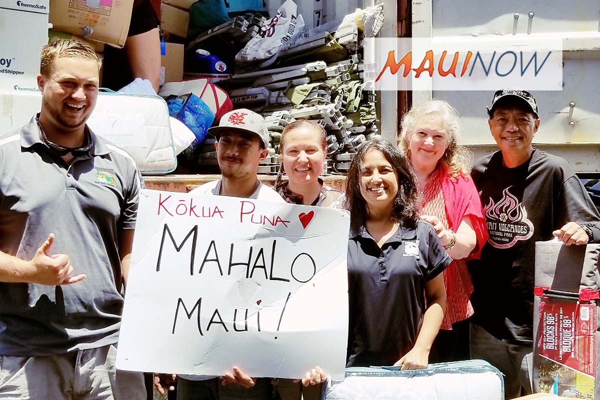 Maui to Host 2nd Kōkua Puna Drive for Puna Evacuees, June 9-10