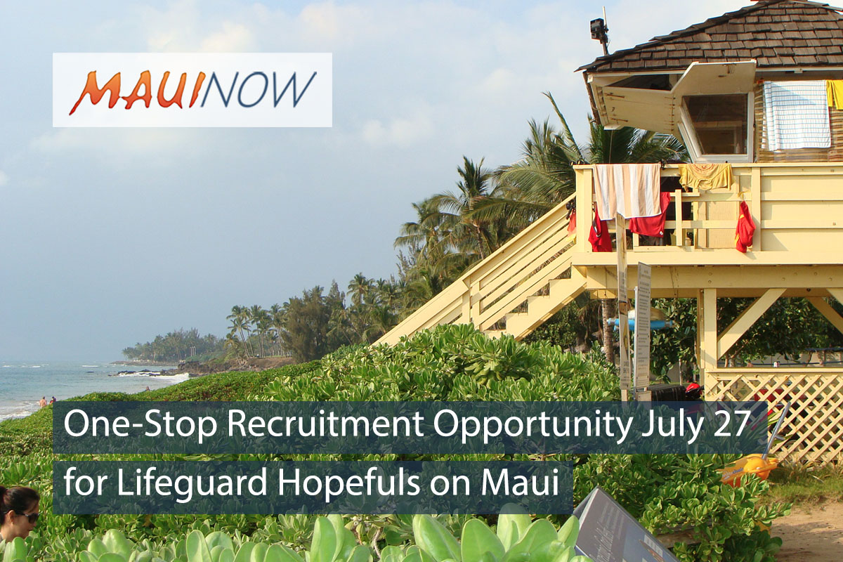 One-Stop Recruitment July 27 for Lifeguard Hopefuls