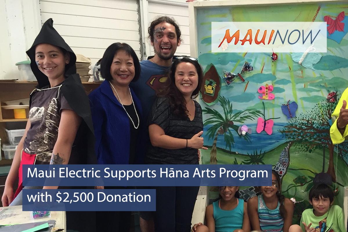 Maui Electric Supports Hāna Arts Program
